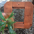 "17"" x 18""Redwood Expansion Board /center board w/ plant not included"